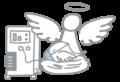 Icon Intensiv Engel mit Beatmungsspatz
